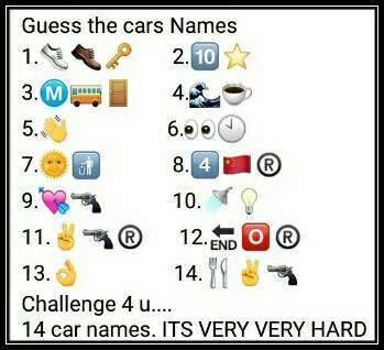 latest guess the cars names