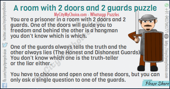2 doors 2 guards riddle answer