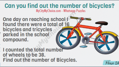 One day on reaching school I found there were a total of 16 bicycles and tricycles parked in the school compound. I counted the total number of wheels to be 38. Find out the number of Bicycles.