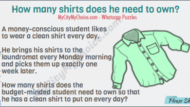 A money-conscious student likes to wear a clean shirt every day. He brings his shirts to the laundromat every Monday morning and picks them up exactly one week later. How many shirts does the budget-minded student need to own so that he has a clean shirt to put on every day?