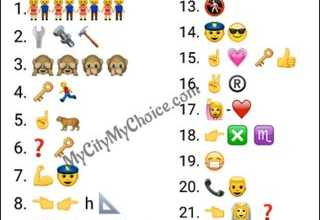 Hi open challange for u Guess Salman Khan Movie Names...... MyCityMyChoice.com 1.👫👫👫👫 2.🔧🔩🔨 3. 🙈🙈🙊🙊 4. 🔑🏃 5. ☝🐅 6.❓🔑 7. 💪👮 8. 👈👉 h 📐 9. 💖 🔑 👍😰❓ 10. 👵 🐂 11. 🇬🇧 😴💭 12. 🚶👬 13. 🚷 14. 👮😎 15. ☝💗 🔑👍 16. ✌® 17. 🙋-❤ 18. 👉❎ ♏ 19. 😷 20. 📞👱 21. 👈 👰 ❓ 22. 👩 🔢1⃣ 23. 1⃣ 👦 1⃣ 👧 24. 👦👦 25.🔴y