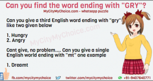 "Can you give a third English word ending with ""gry"" like two given below 1. Hungry 2. Angry Cant give, no problem.... Can you give a single English world ending with ""mt"" one example 1. Dreamt"