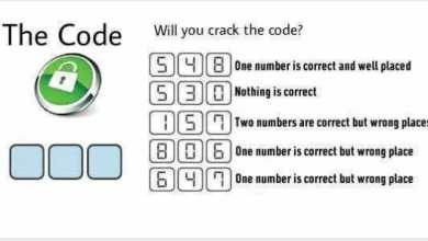 Will you crack the code 5 4 8 : One number is correct and well placed. 5 3 0 : Nothing is correct. 1 5 7 : Two numbers are correct but wrong places. 8 0 6 : One number is correct but wrong place. 6 4 7 : One number is correct but wrong place.