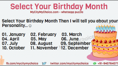 Select your Birthday Month Whatsapp games Select Your Birthday Month Then I will tell you about your Personality..☺ January February March April May June July August September October November December