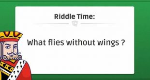 What flies without wings?
