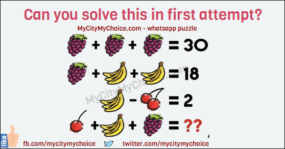 Can You Solve This In First Attempt puzzle answer