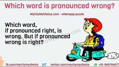 Which word, if pronounced right, is wrong. But if pronounced wrong is right?