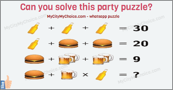 Can you solve this party puzzle?