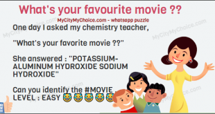 """One day I asked my chemistry teacher, """"What's your favorite movie ??"""" She answered : """"POTASSIUM- ALUMINUM HYDROXIDE SODIUM HYDROXIDE"""" Can you identify the #MOVIE .... LEVEL : EASY 😂😂😂😂😂😂"""