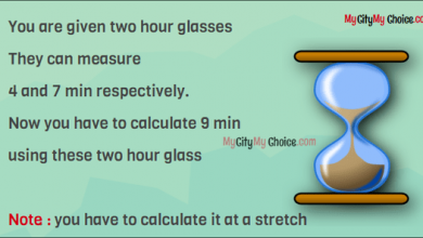You are given two hour glasses They can measure 4 and 7 min respectively. Now you have to calculate 9 min using these two hour glass Note      :   you have to calculate it at a stretch