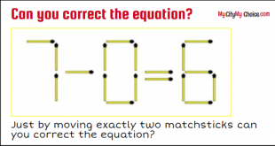 7 - 0 = 6 Can you correct the equation?