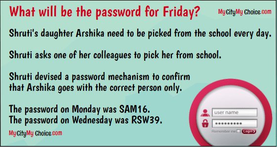 What will be the password for Friday answer