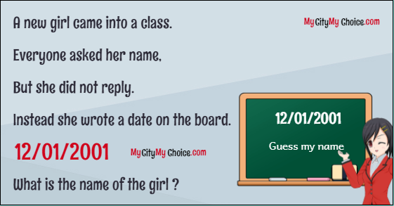 Can you guess girl name from date 12/01/2001?