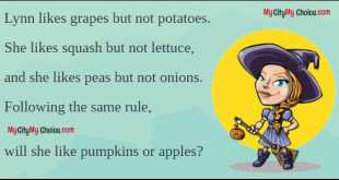 Lynn likes grapes but not potatoes. She likes squash but not lettuce, and she likes peas but not onions. Following the same rule, will she like pumpkins or apples?