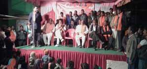 election campaign in kharsia by vishnu dev