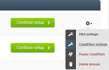 Couldflare settings for your website