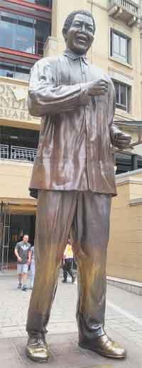Nelson Mandela Johannesburg Sandton Mall