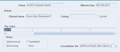 Oracle Balance Adjustment