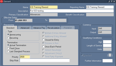 ICD - Create element