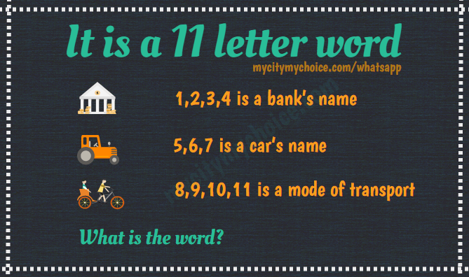 11 letter words it is a 11 letter word 1 2 3 4 is a bank s name answer 20005 | 11 letter word