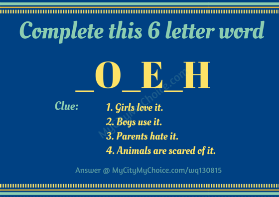 Complete this 6 letter word | Whatsapp Puzzle