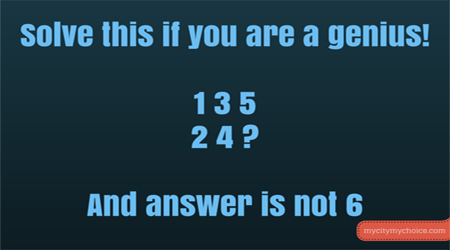 Solve this if you are a genius