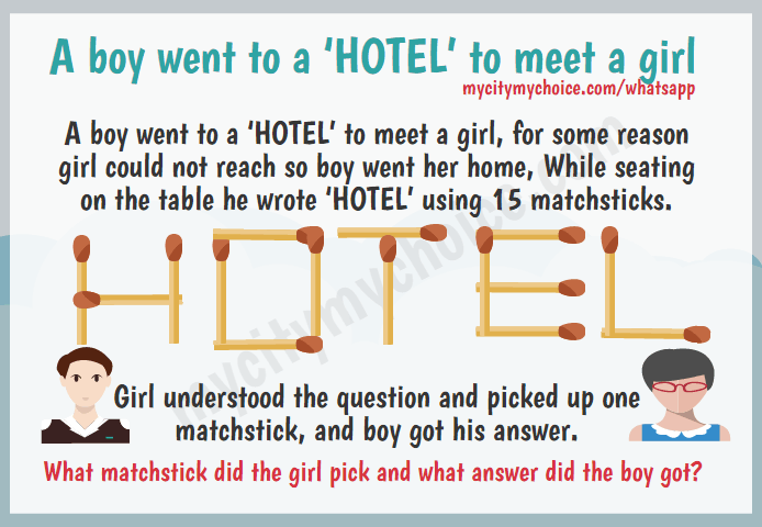 A boy went to a 'HOTEL' to meet a girl