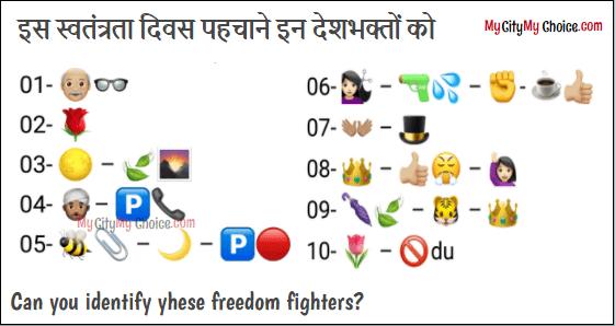 can you identify these freedom fighters answer - इस स्वतंत्रता दिवस पहचाने इन देशभक्तों को - Is swantra diwas pahachane in desh bhakton ko
