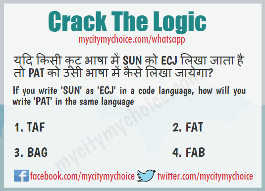 Crack The logic - Word Puzzle