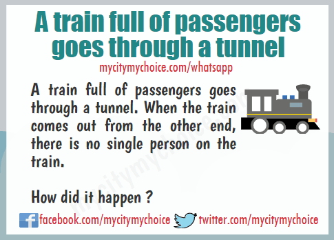 A train full of passengers goes through a tunnel