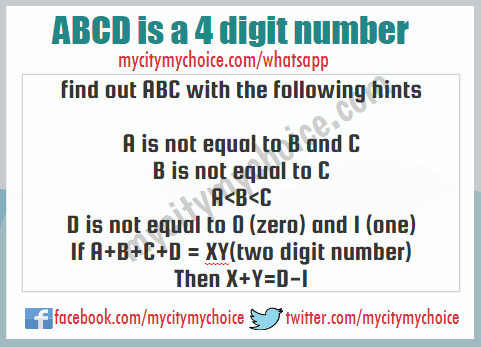 ABCD is a 4 digit number