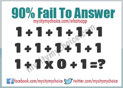 90% Fail To Answer