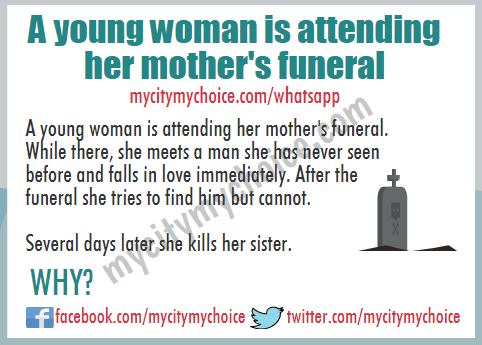 A young woman is attending her mother's funeral - Whatsap pPuzzle
