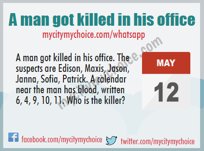 A man got killed in his office - Whatsapp Puzzle