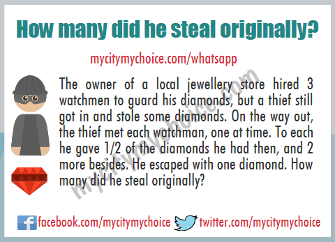 How many did he steal originally? - Puzzle