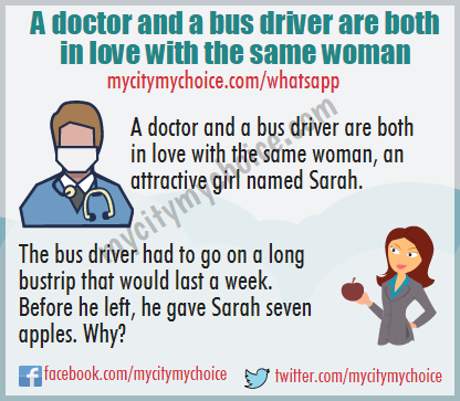 A doctor and a bus driver are both in love with the same woman - Whatsapp Puzzle