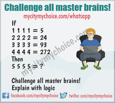 Challenge all master brains! - Whatsapp Puzzle