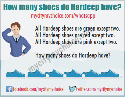 How many shoes do Hardeep have?