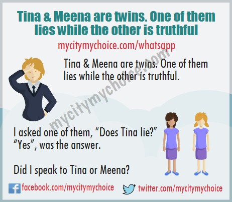 Did I speak to Tina or Meena? - Whatsapp Puzzle