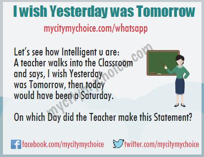 I wish Yesterday was Tomorrow
