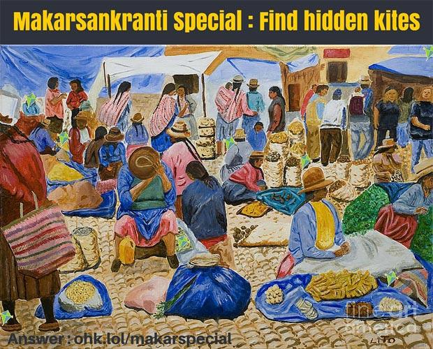 Makarsankranti Special : Find hidden kites - Whatsapp Puzzle