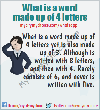 what is a word made up of 4 letters what is a word made up of 4 letters whatsapp puzzle answer 843