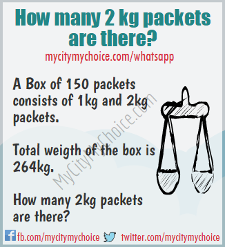 How many 2 kg packets are there? - Whatsapp Puzzle