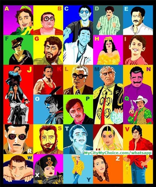 Guess These Famous Bollywood Characters from A to Z