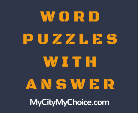 Word Puzzle With Answer
