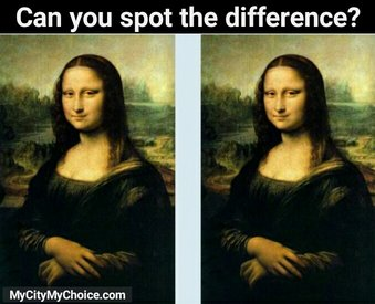 Can you spot the difference puzzle answer for Can you buy the mona lisa