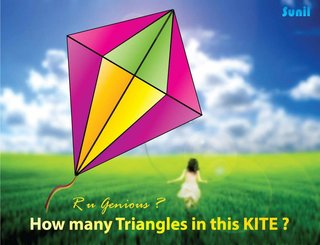 How many triangles in this kite?