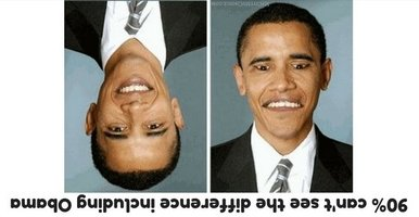 Answer of 90% can't see the difference including Obama