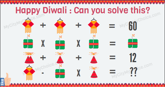 Happy Diwali : Can you solve this? | Puzzle Answer
