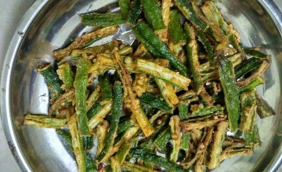 कुरकुरी भिन्डी - Kurkuri Bhindi